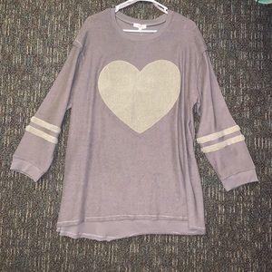 Sweaters - Brown Heart Sweater
